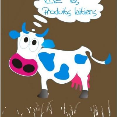 Les produits laitiers au marché de la ferme des authieux