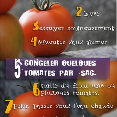 congélation des tomates de pleine terre cueillies à la ferme des authieux