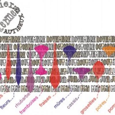 les calendriers de cueillette de la ferme des authieux; à imprimer N&B ou couleurs