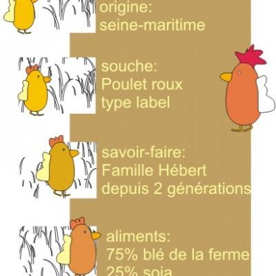 les poulets proposés au marché de la ferme des authieux