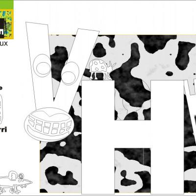 Coloriage pour les enfants sur le thème de la ferme cueillette des authieux et jeu accros à la pomme !