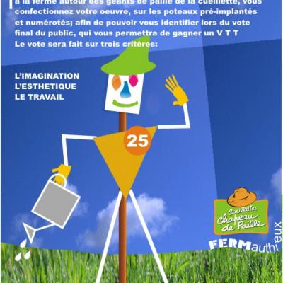venez jouer à la ferme cueillette des authieux ,créer votre épouvantail concours 2012